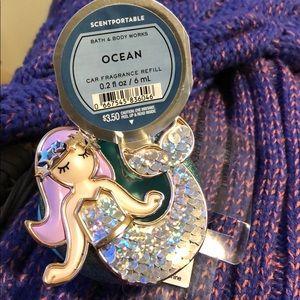 Bath&Body Scented Mermaid Car Visor Clip
